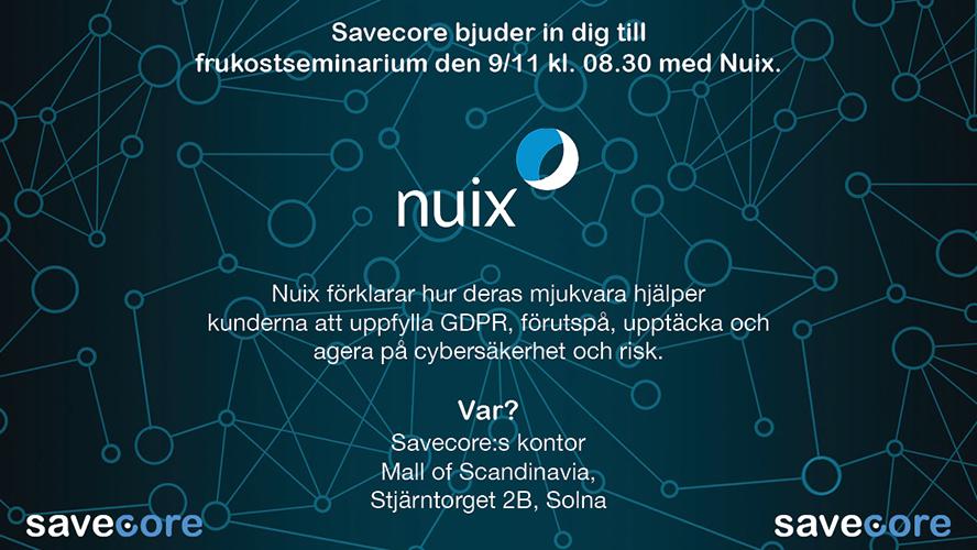 Frukostseminarium med Nuix: Cybersäkerhet