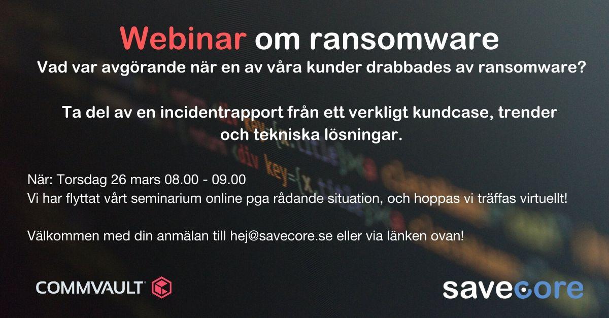 Webinar om ransomware